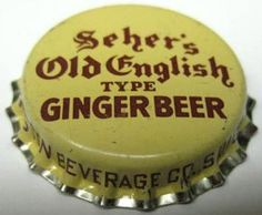 Seher's Old English Type Ginger Beer Crown Bottle, Bottle Top, English Beer, Old English, Ginger Beer, Root Beer, Cork, Alcohol, Pub Ideas