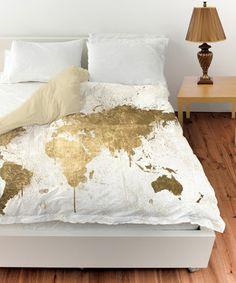 Look what I found on #zulily! White Gold Mapamundi Duvet Cover #zulilyfinds