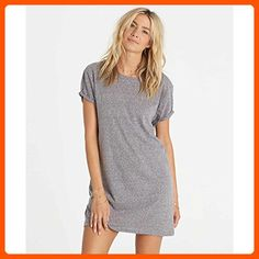 c44da02d6da1 Make a bold exit in this split-personality t-shirt dress. A casual front  turns into a deep V beck with crisscross strapping for a mix of classic and  .