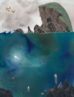 A fan art on Song Of The Sea I made for a little competition for Cartoon Saloon. Mc Escher, Banksy, Fuchs Illustration, The Secret Of Kells, Song Of The Sea, All Nature, Animation, Sea Art, Illustrations