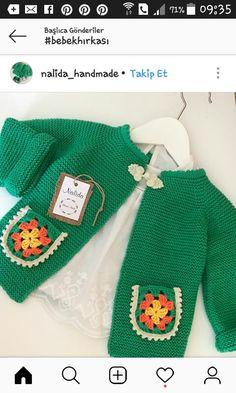 Masal hirka Knitting For Kids, Baby Knitting Patterns, Crochet For Kids, Knitting Designs, Hand Knitting, Crochet Baby Cardigan, Knit Crochet, Baby Pullover, Baby Girl Crochet