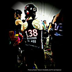 Buenos D A$$ of the Brandywine Belligerents Roller Derby team from Pennsylvania! Love the name sooo much! :) Photo by Rockin' Ramzi's Rockabilly and Pin Up Emporium. #rollerderby #derbygirl #derbylife #rollergirl #derbylove #buenosdias #Pennsylvania #usa #brandywine #brandywinebelligerents #rockinramzis #derby #rollerskate