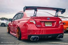 Clean @kylepetricknj #iscsuspension #teamgold #redongold #stanced #subaru