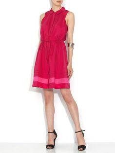 MSK - Stretch Pintuck Sleeveless shirt dress