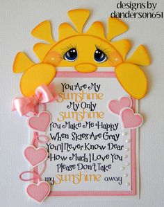 Sunshine Girl Pink Paper Piecing  PreMade 4 Border Scrapbook Album danderson651