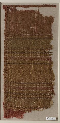 Fragment Date: 13th century Geography: probably Spain Culture: Islamic Medium: Silk (?) Accession Number: 90.5.21