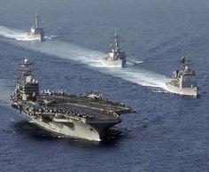 USS Abraham Lincoln Carrier Attack Group.
