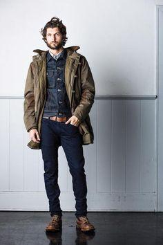 モッズコートとデニムジャケットの着こなし