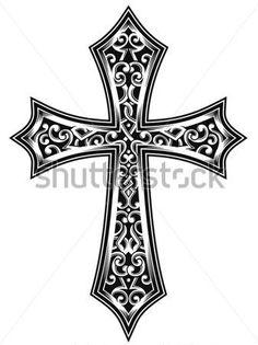Zdobené Christian Cross Vektor vektor z knihovny - Clipart.me