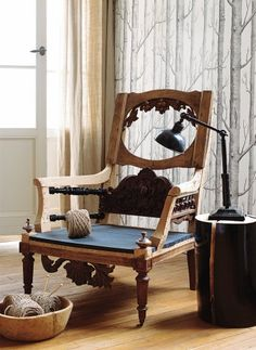 Turned legs, antique frames and parts are Recovered carved woodwork on different chairs