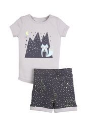 Cotton on - boys s/s star fox pj, HERO SILVER