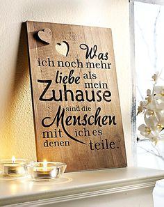 "Holzbild ""Zuhause"""