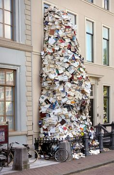 Waterfall Made of Books