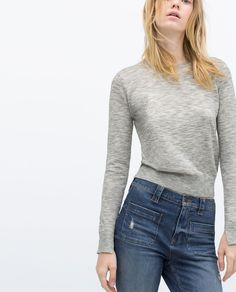 KNIT SWEATER WITH SLEEVE SLITS-Sweaters-Knitwear-WOMAN   ZARA United States