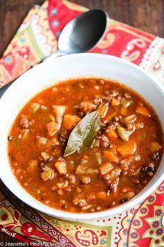Slow Cooker Greek Lentil Soup (Fakies) Recipe - Jeanette's Healthy Living