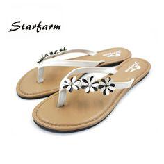 $9.24 (Buy here: https://alitems.com/g/1e8d114494ebda23ff8b16525dc3e8/?i=5&ulp=https%3A%2F%2Fwww.aliexpress.com%2Fitem%2F2016-Woman-Shoes-Slip-On-Sandals-Size-5-6-5-8-Black-Yellow-White-with-flowers%2F32715286804.html ) 2017 Shoes women black white Flip Flops slippers woman sandals with PU flowers on strap sandalia feminina dames schoenen for just $9.24