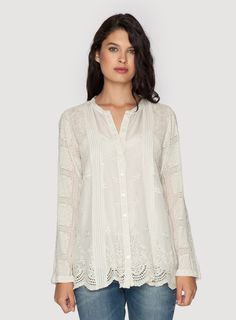 Trim Insert Tunic Shell... comfy and soft... nice with just about anything...