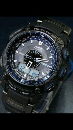 Casio G Shock Watches, Sport Watches, Casio Watch, Cool Watches, Rolex Watches, Watches For Men, Gadgets For Dad, Casio Protrek, Skeleton Watches