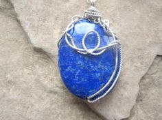 Afghanistan Lapis lazuli Pendant Necklace  by KiCrystalCreations, $30.00 Lapis Lazuli Pendant, Afghanistan, Sterling Silver Jewelry, Gemstone Rings, Pendant Necklace, Gemstones, Crystals, Gems, Crystals Minerals