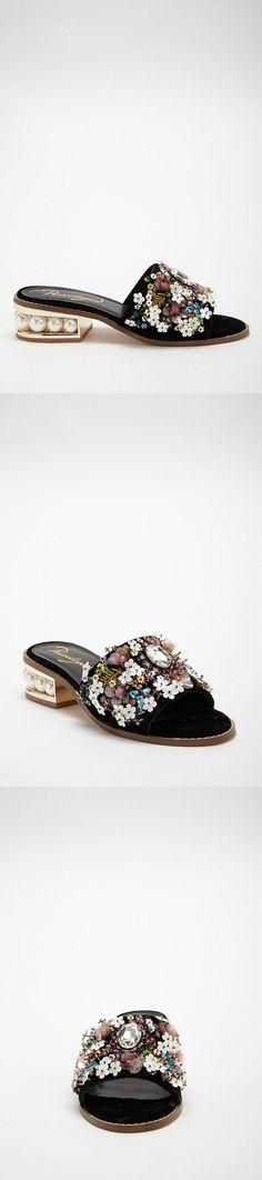 f25c953cd9ef9f Privileged Floral Beaded Slides    98.00 USD    Forever 21 Forever 21 Shoes