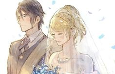 Noctis Lucis Caelum and Lunafreya Final Fantasy Xv, Final Fantasy Chronicles, Fantasy Queen, Final Fantasy Characters, Fantasy Series, Fantasy Art, Cute Anime Pics, Cute Anime Couples, Noctis And Luna