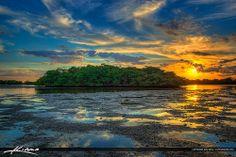 Sunset Munyon Island MacArthur Beach State Park