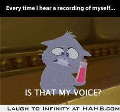 It's like my voice mutated