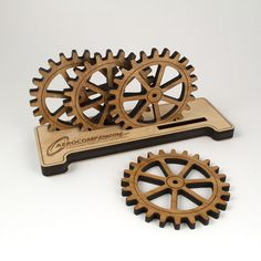 Great Father's Day gift idea! Gear coasters with a personalized holder!