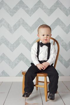 Little Boy Classic Black Clip on Bow Tie and by ZoeBugBaby on Etsy
