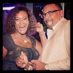 Judge Greg Mathis and his wife