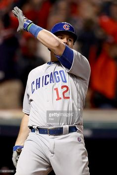 Kyle Schwarber,CHC//Oct 25,2016 Game 1 World Series at CLE