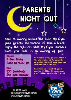 parents night out flyers template