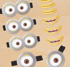 Minion oogjes en mondjes