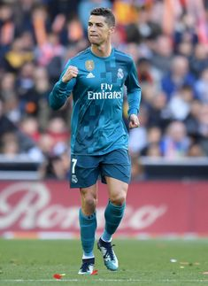 1b1f27ba41 VALENCIA, SPAIN - JANUARY 27: Cristiano Ronaldo of Real Madrid celebrates  scoring his side's
