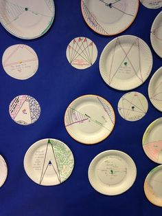 Resourceaholic: I love my new circle theorems wall. It was an easy and enjoyable lesson to run - I just gave them paper plates, straws and pins and they got on with it!