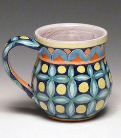 Rosalie Wynkoop - Cup 1, 2013 tin glazed terra cotta, overglaze decoration, gold luster