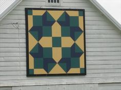 """Diamond Cross"" Barn Quilt – rural Le Mars, IA - Painted Barn Quilts on Waymarking.com"