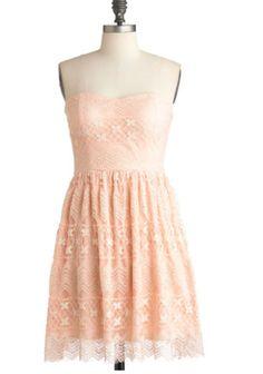 peach bridesmaid dress idea modcloth.com