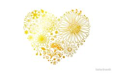 Floral heart by katerinamk