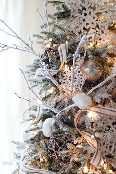 Our Frosted Fraser Fir | 12 bloggers of Christmas