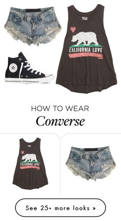 """""""California"""" by gracerose03 on Polyvore featuring Billabong, One Teaspoon, Converse, women's clothing, women's fashion, women, female, woman, misses and juniors"""