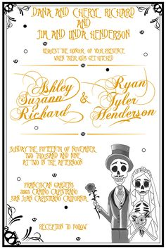 another cool day of the dead wedding announcements - | day of the, Wedding invitations