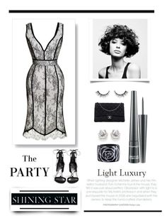 """""""The Party in Light Luxury"""" by conch-lady ❤ liked on Polyvore featuring H&M, Natasha Zinko, Chanel, Angelo, MAC Cosmetics and Stuart Weitzman"""