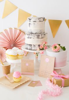 Pretty in pink. Plan the prettiest baby shower for the Mama-to-be with styling inspiration from @ohhappyday. Stationery by Christy Vespa.