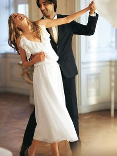 I like that dress for the reception and of course my future hubby and I will take dance lessons before!