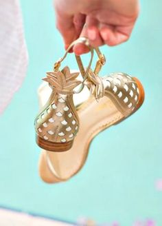 Golden sandals from Lilly Pulitzer