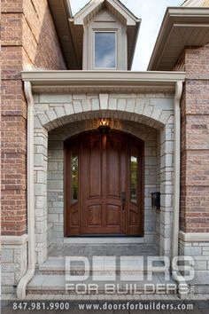 Wood Front Entry Doors in-Stock. 4 Panel Solid Mahogany Wood Door with sidelites - May 06 2019 at Porch Doors, Wood Entry Doors, Entrance Doors, Wooden Doors, Barn Doors, Custom Interior Doors, Custom Wood Doors, Main Entrance Door Design, Front Door Design