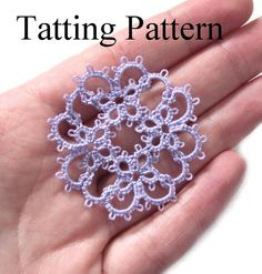 PDF Intermediate tatting pattern 'Janessa' motif by TataniaRosa on Etsy