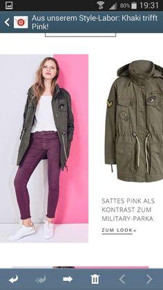Burgundy Jeans, Parka, Military Jacket, Jackets, Fashion, Down Jackets, Moda, Field Jacket, Fashion Styles