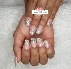 Glittery Christmas nails Derby nails
